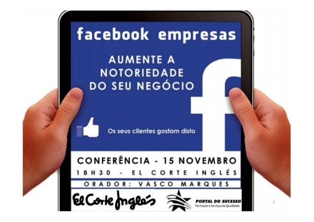 El Corte Inglês | Portal do Sucesso | Facebook Empresas | Vasco Marques   1