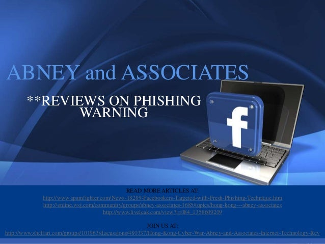 1ABNEY and ASSOCIATES           **REVIEWS ON PHISHING                  WARNING                                            ...
