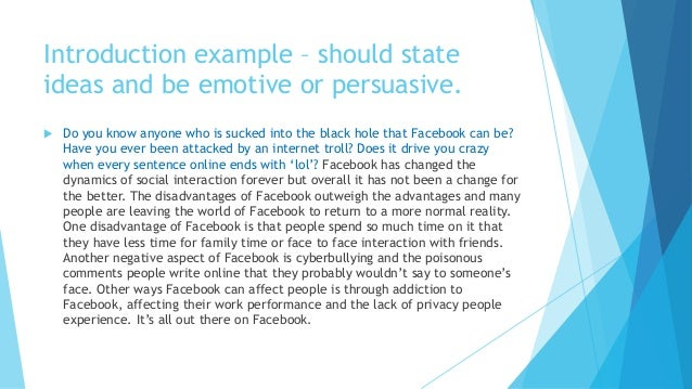 thesis introduction about facebook