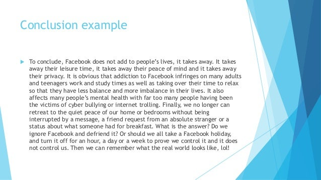essay about facebook effect Is facebook making us lonely  the great american essay is emerson's self-reliance  she concludes that the effect of facebook depends on what you bring to it just as your mother.