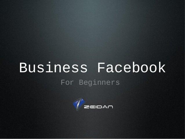 Business Facebook For Beginners