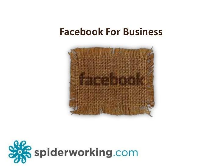Facebook For Business<br />