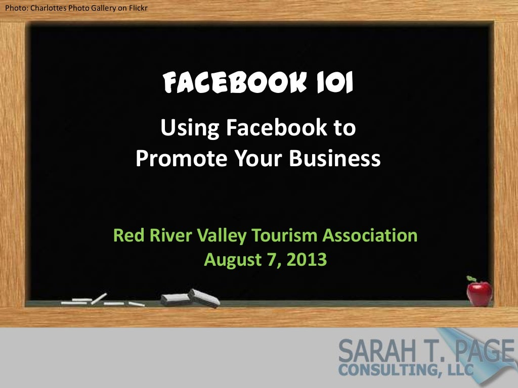 Facebook 101: Using Facebook To Promote Your Business