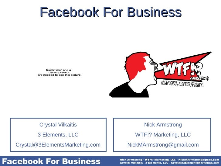 Facebook For Business Nick Armstrong WTF!? Marketing, LLC [email_address]