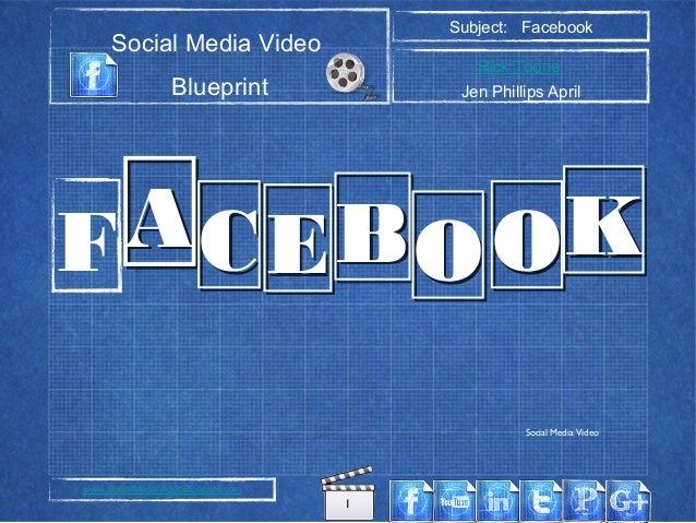 1 Social Media Video Blueprint Subject: Facebook Rick Toone Jen Phillips April www.SocialMediaVideoBlueprint.com AACCEEBBO...