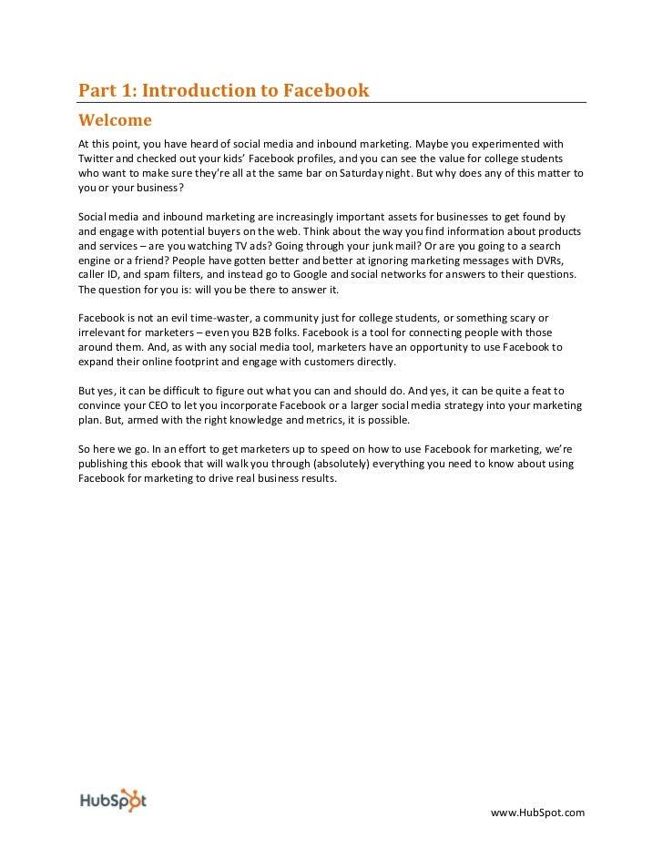Facebook For Business Marketing eBook - HubSpot Slide 3