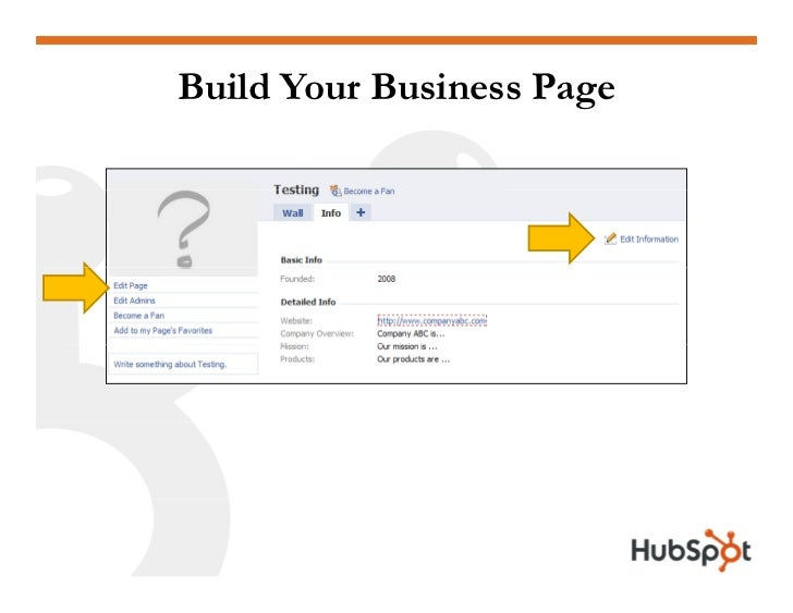 Build Your Business Page