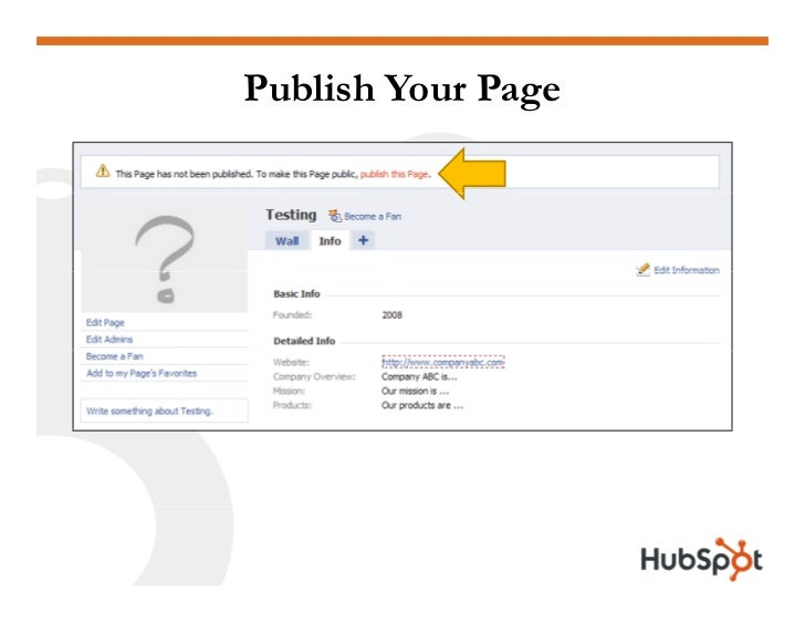 Publish Your Page
