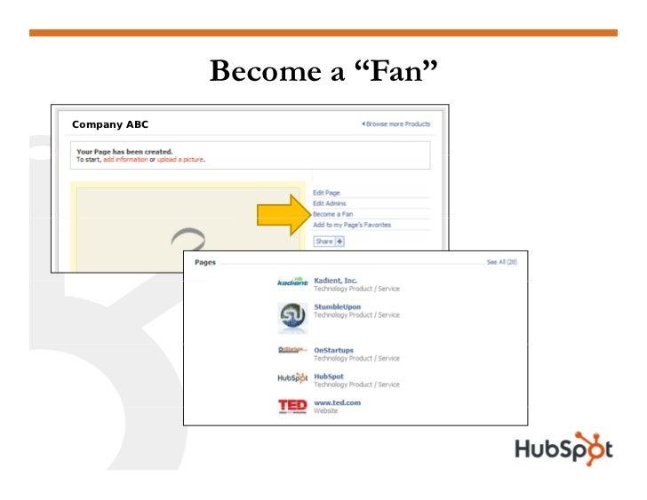 """Become a """"Fan"""" Company ABC"""