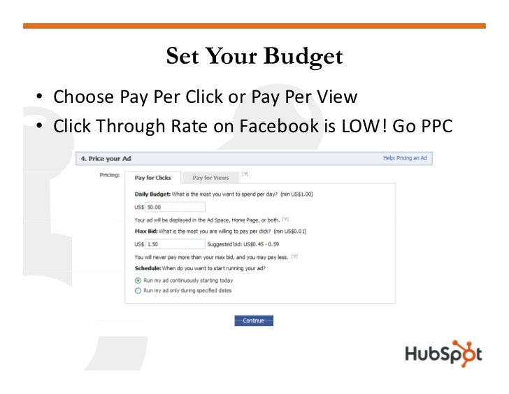 Set Your Budget • ChoosePayPerClickorPayPerView • Cli k Th   ClickThroughRateonFacebookisLOW!GoPPC         ...