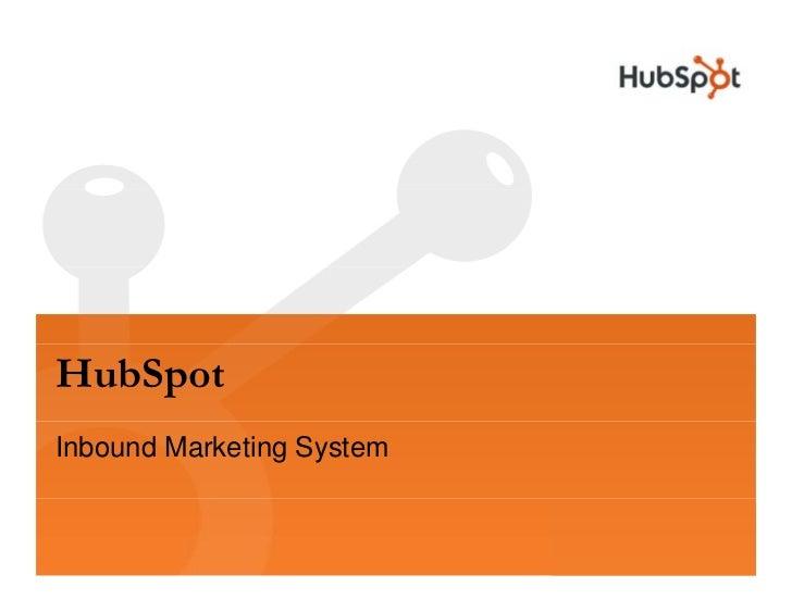 HubSpot Inbound Marketing System