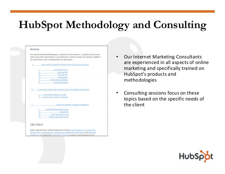 HubSpot Methodology and Consulting                   •   OurInternetMarketingConsultants                      areexpe...