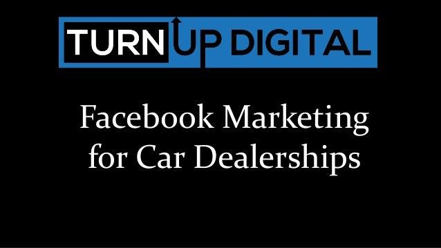 Facebook Marketing for Car Dealerships