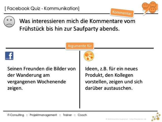 Facebook Fragequiz mit Argumenten Slide 3