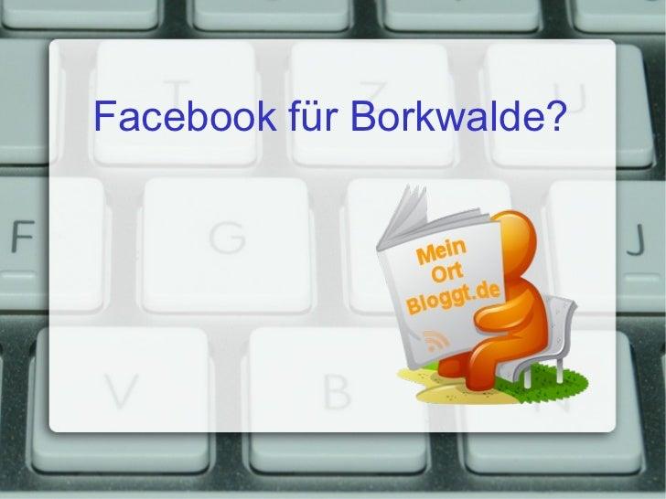 Facebook für Borkwalde?