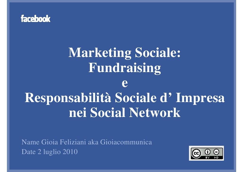 Facebook Developer Garage Venice: Marketing Sociale sui Social Network