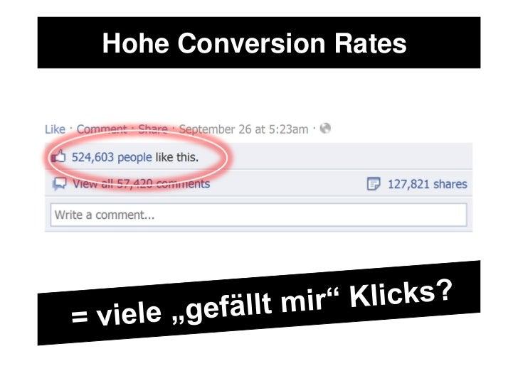 Hohe Conversion Rates
