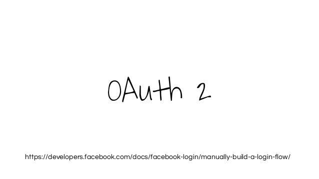 OAuth 2 https://developers.facebook.com/docs/facebook-login/manually-build-a-login-flow/