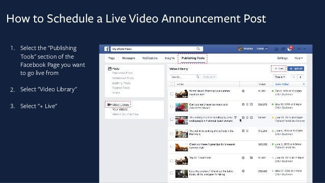 Facebook guide on how to schedule a live stream on Facebook Live pages