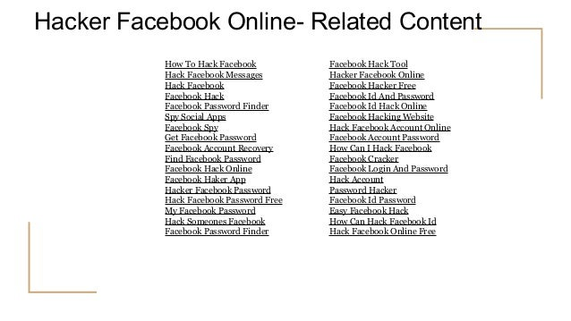 Facebook Hack PPT
