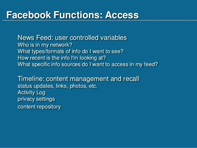 Facebook In The Information Literacy Classroom Framework