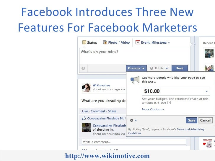 Facebook Introduces Three NewFeatures For Facebook Marketers        http://www.wikimotive.com