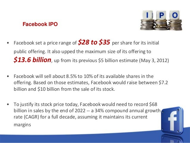 Facebook ipo amount raised