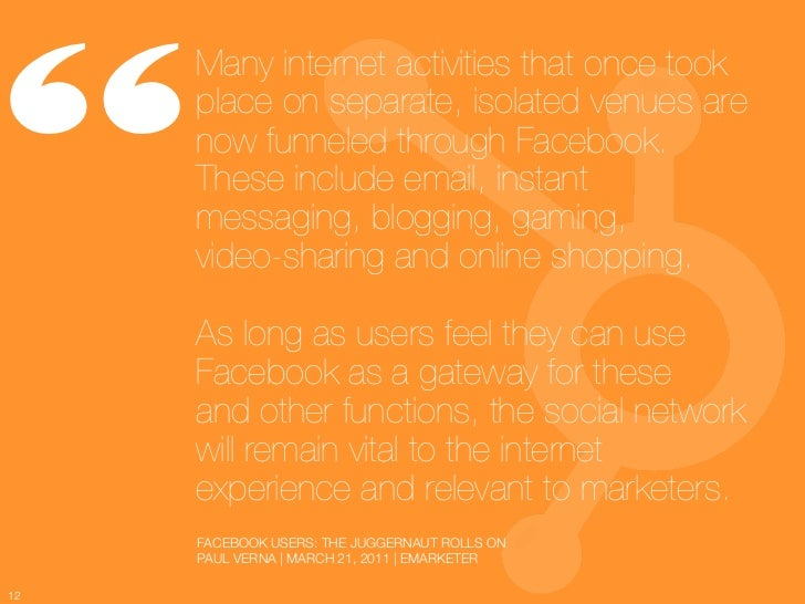 12 Awesome Facebook Stats, Charts & Graphs Slide 12