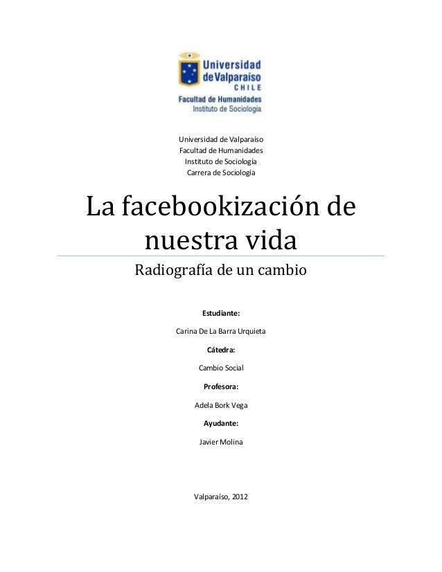 Universidad de Valparaíso         Facultad de Humanidades           Instituto de Sociología            Carrera de Sociolog...