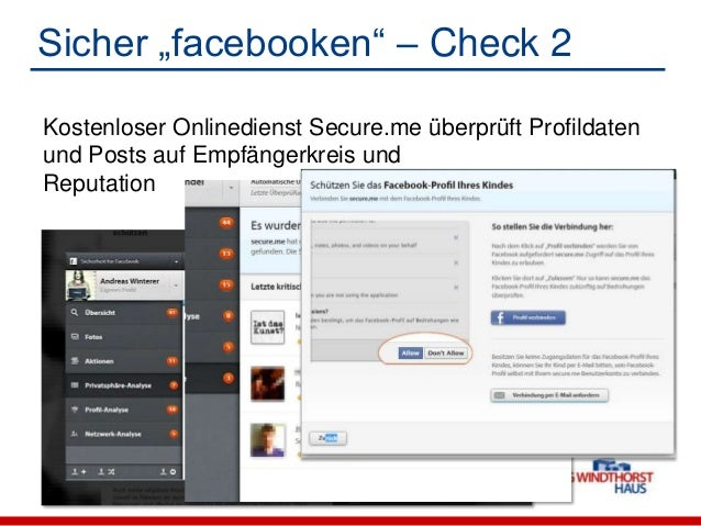 """Sicher """"facebooken"""" – Check 3 Mypermissions.org zeigt an, welche Anwendungwelchen Zugriff auf Daten hat Browser-Erweiter..."""