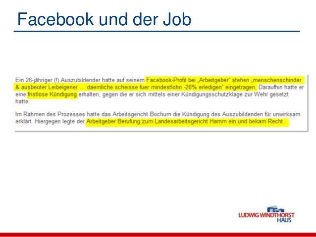 Facebook und der Job Loyalitätspflichten im kirchlichen Dienst noch weitergehend! Grundordnung des kirchlichen Arbeitsre...