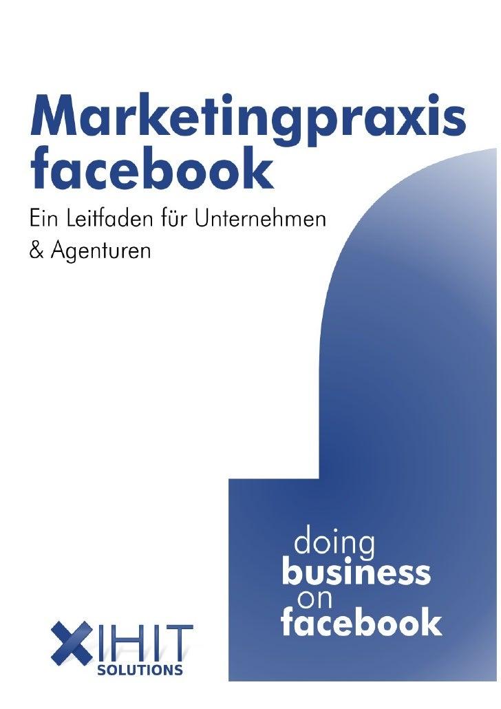 Inhaltsverzeichnis 1 Marketing und Markenführung auf facebook................................................................
