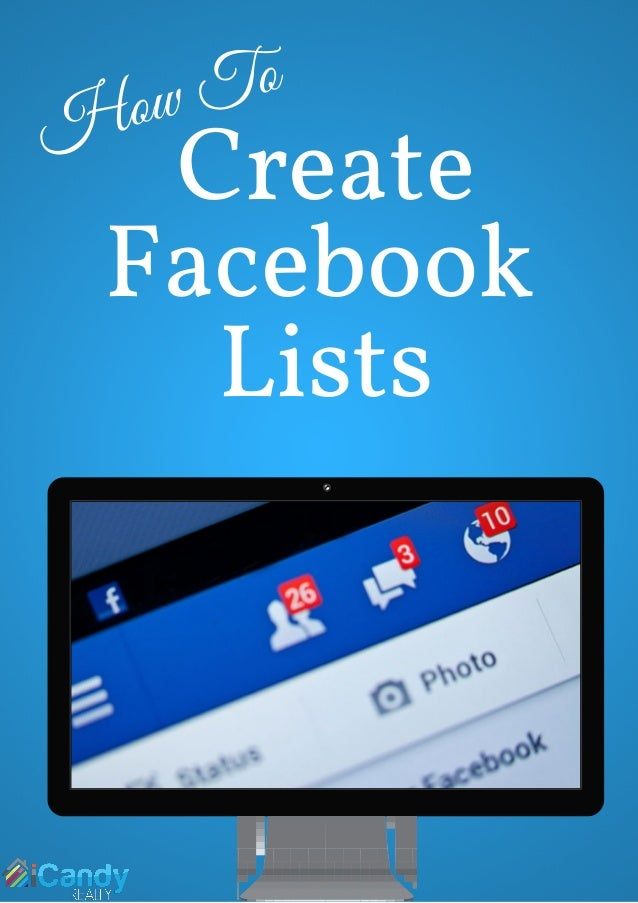 How To Create Facebook Lists