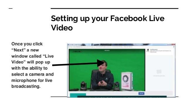 Facebook Live PTZ Camera Integration