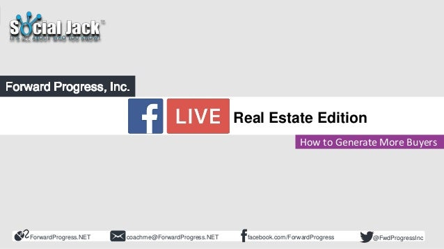 ForwardProgress.NET facebook.com/ForwardProgresscoachme@ForwardProgress.NET @FwdProgressInc Flash Class Facebook LIVE How ...