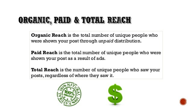 • Prior 2016, Business or Athlete Pages could reach up to 16% of their audiences organically. Example: 1000 fans, reach = ...