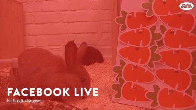 FACEBOOK LIVE bij Studio Brussel
