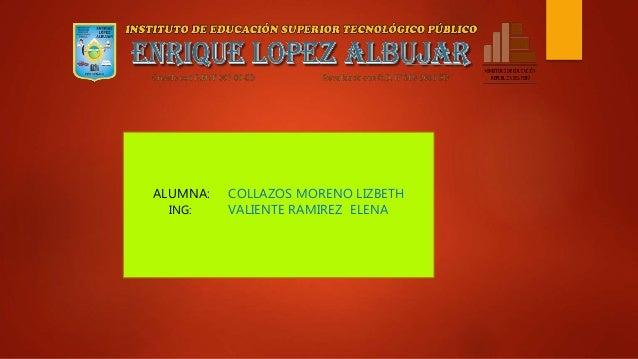 ALUMNA: COLLAZOS MORENO LIZBETH ING: VALIENTE RAMIREZ ELENA