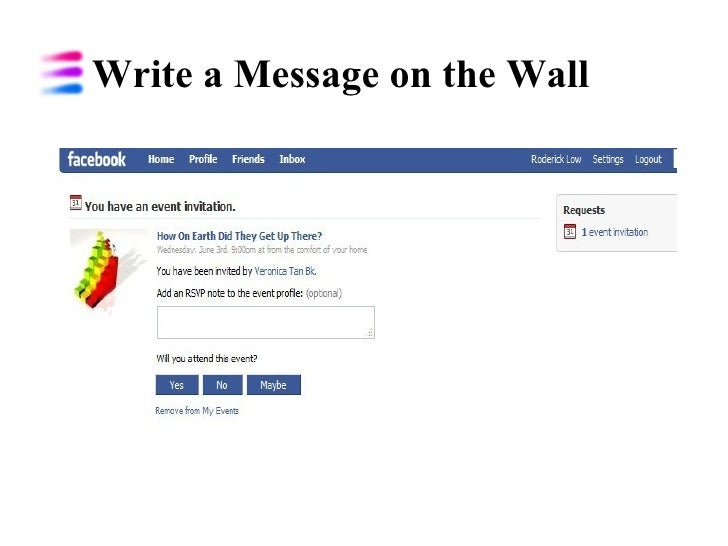 Write a Message on the Wall