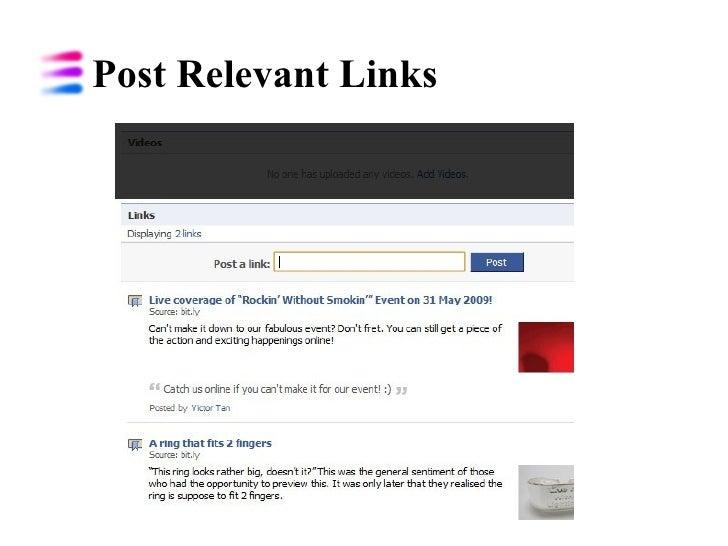 Post Relevant Links