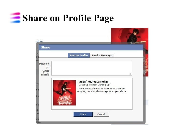 Share on Profile Page