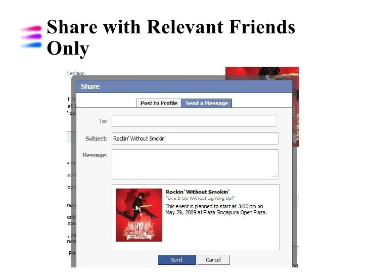 Share with Relevant Friends Only
