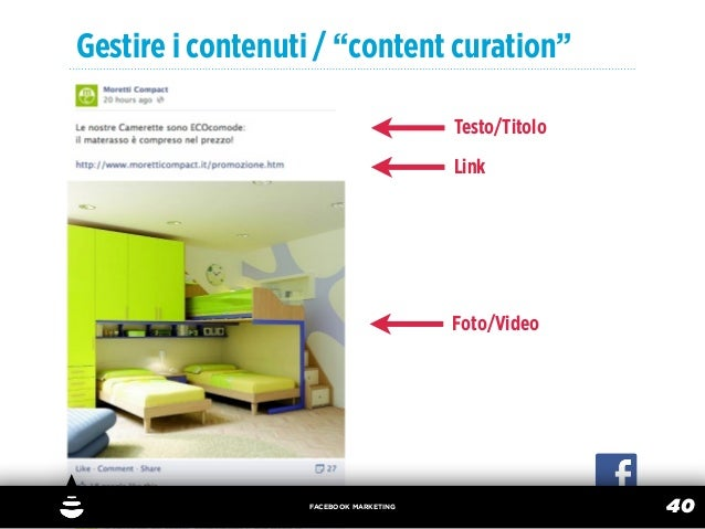 """Gestire i contenuti / """"content curation""""                                       Testo/Titolo                               ..."""