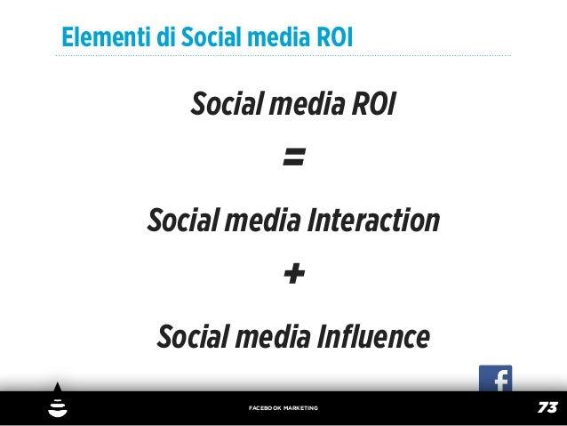Elementi di Social media ROI            Social media ROI                          =        Social media Interaction       ...
