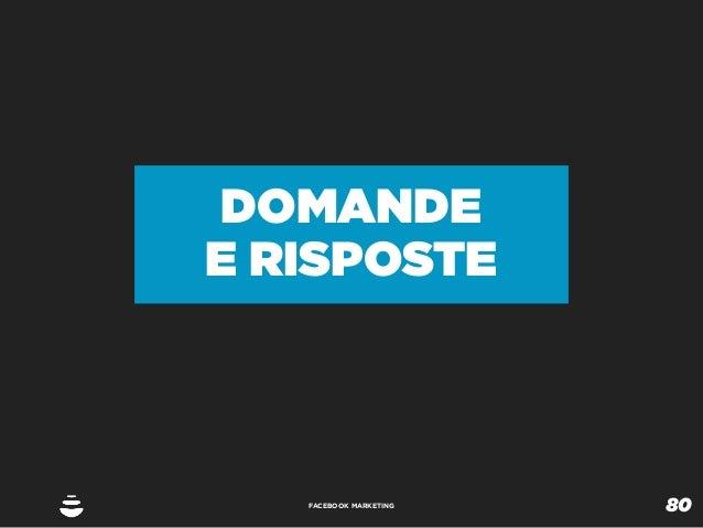 DOMANDEE RISPOSTE   FACEBOOK MARKETING                        80