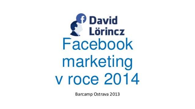 Facebook marketing v roce 2014 Barcamp Ostrava 2013