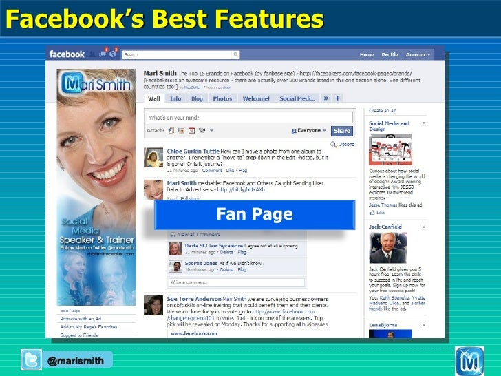 Fan Page @marismith Facebook's Best Features