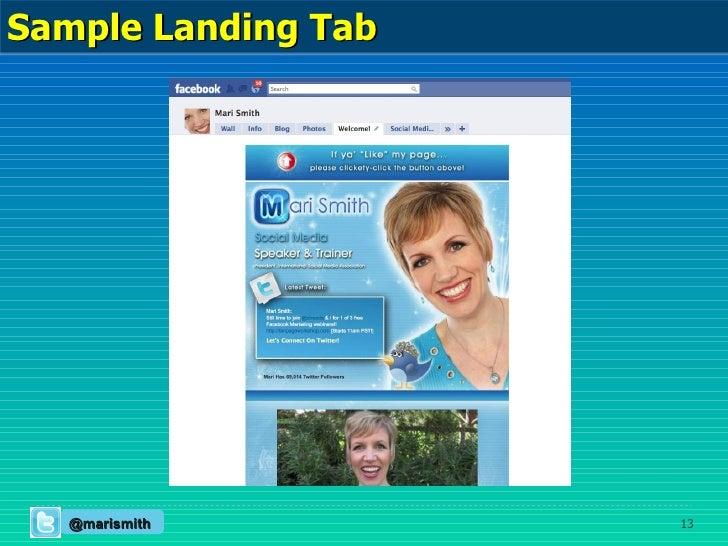 Sample Landing Tab @marismith