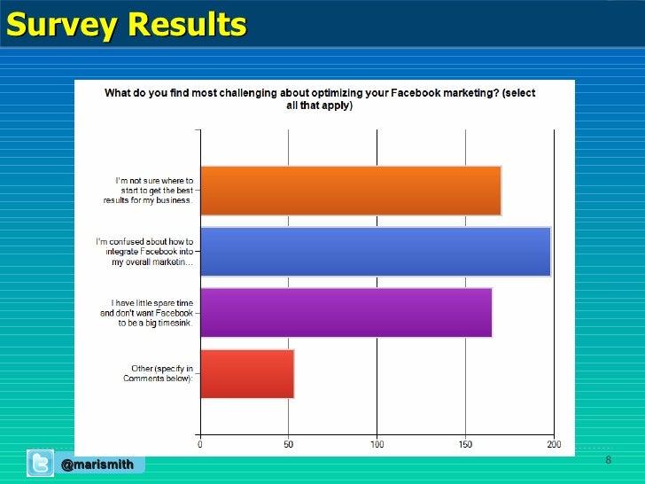 @marismith Survey Results