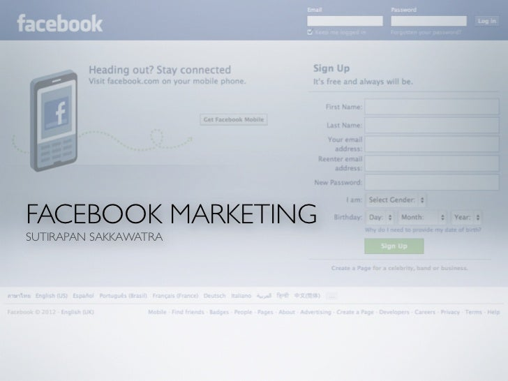 FACEBOOK MARKETINGSUTIRAPAN SAKKAWATRA